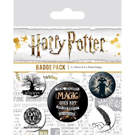 Комплект значков Гарри Поттер (Символы)