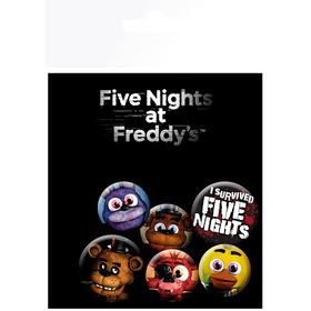 Комплект значков Пять ночей с Фредди