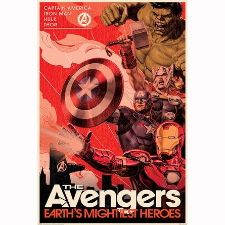 Макси-Постер Мстители - Пропаганда героя золотого века