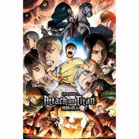 Постер Атака Титанов 2 сезон - Коллаж