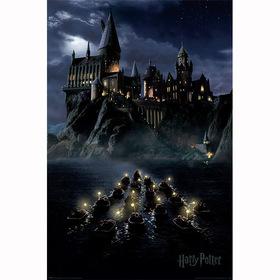 Постер Гарри Поттер - Лодки у Хогвардс