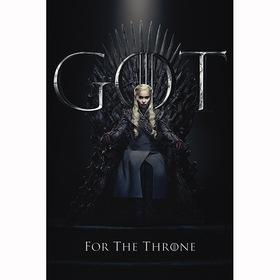 Постер Игра Престолов - Дейнерис на троне
