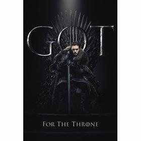 Постер Игра Престолов - Джон на троне