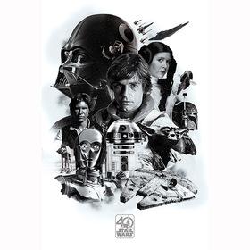 Постер Звездные Войны - 40 лет (Монтаж)
