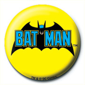 Значок DC Comics (Бэтмен Ретро Лого) 25 мм