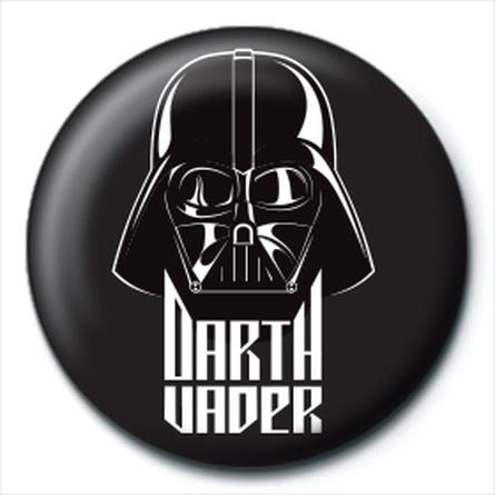 Значок Звездные Войны (Дарт Вейдер черный) 25 мм