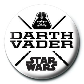 Значок Звездные Войны (Дарт Вейдер белый) 25 мм